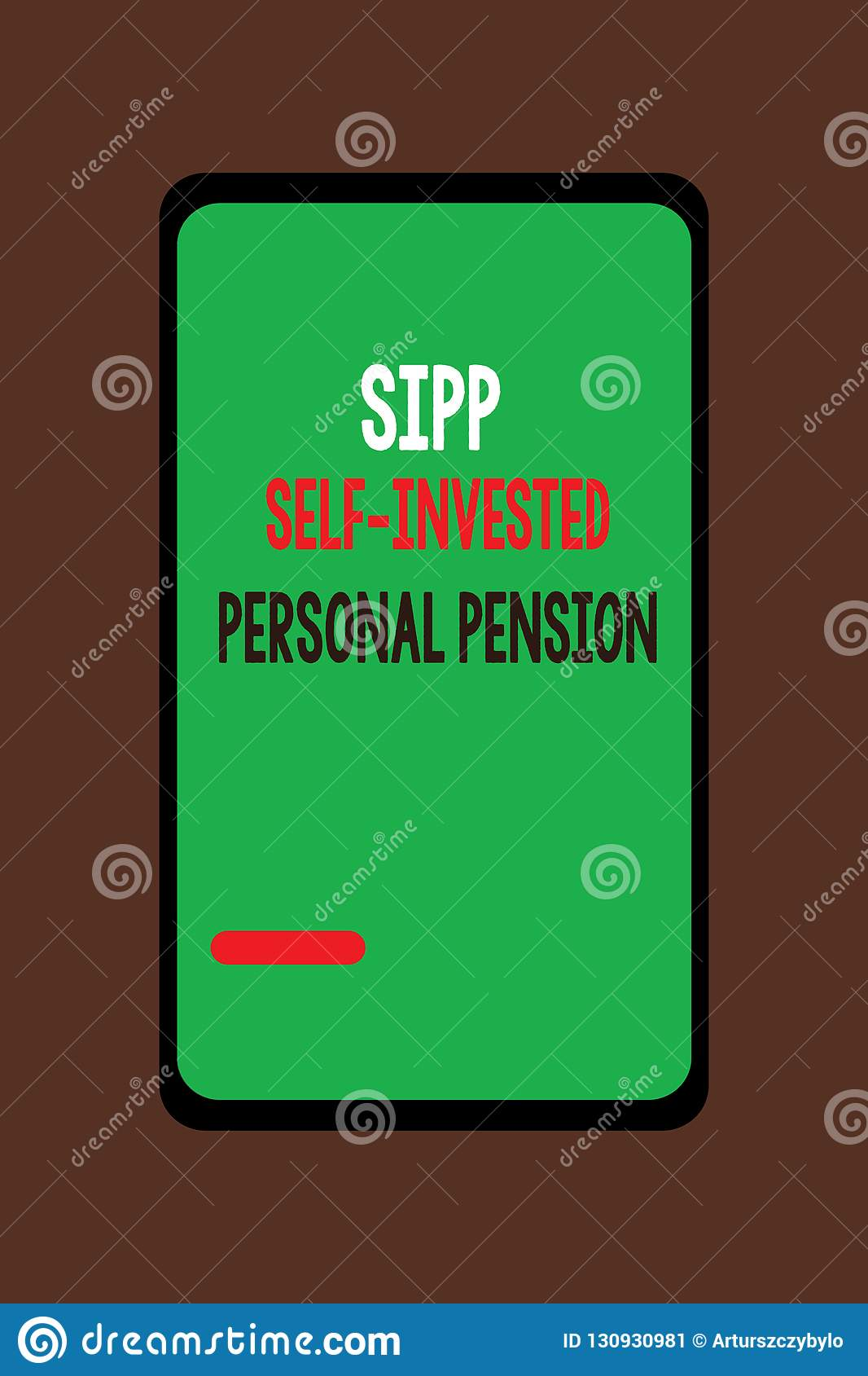 Handwriting Text Sipp Self Invested Personal Pension