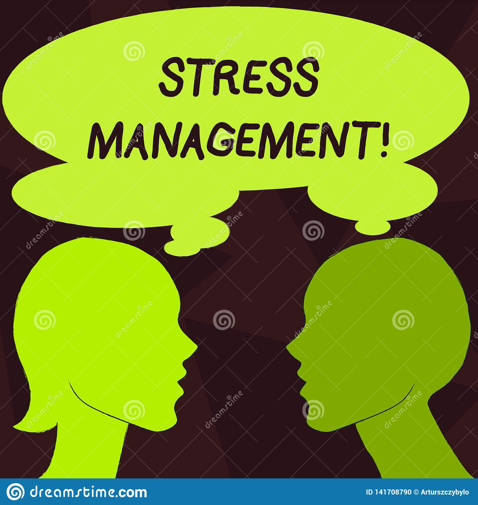 Handwriting Text Stress Management. Concept Meaning ...