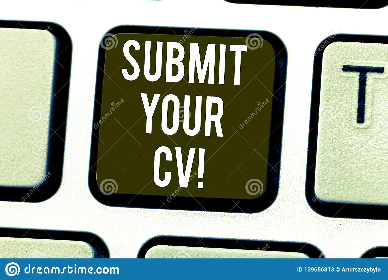 handwriting text submit your cv  concept meaning looking