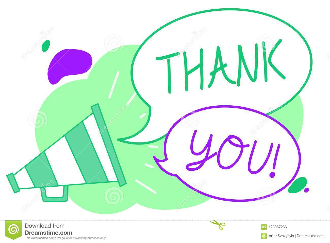 Handwriting Text Thank You Concept Meaning Replaying On Something
