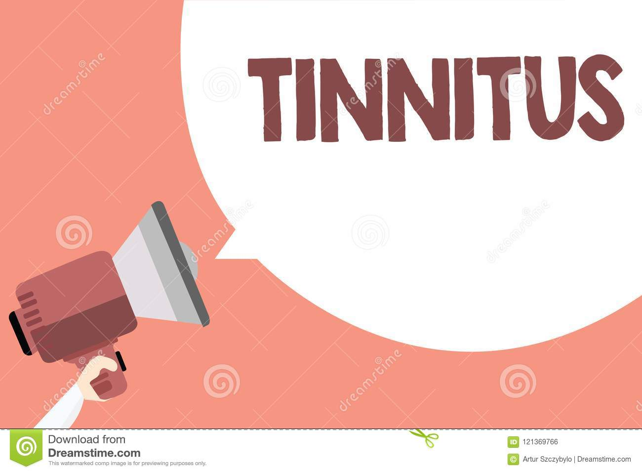 Handwriting Text Tinnitus  Concept Meaning A Ringing Or Music And