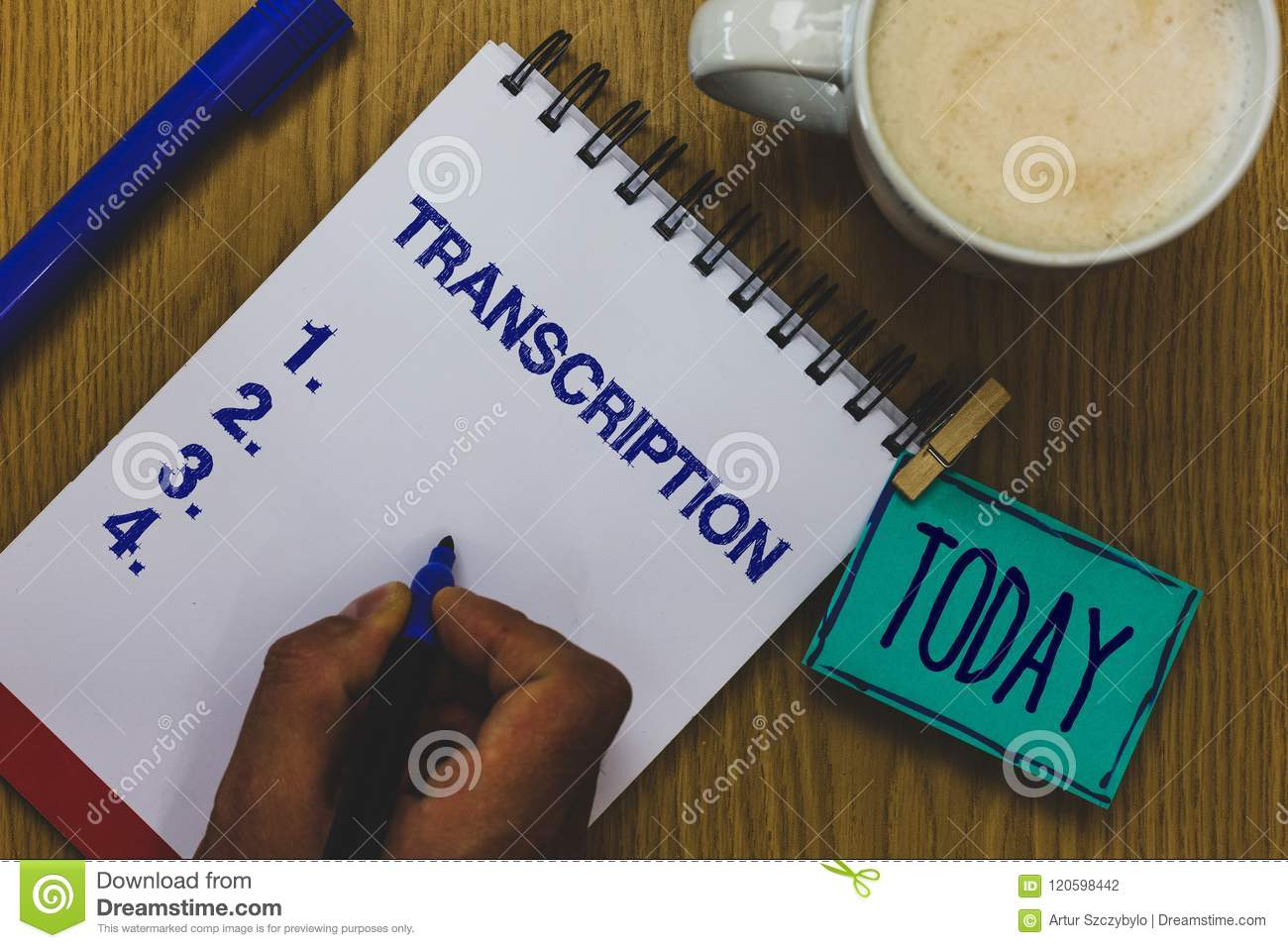 Handwriting Text Transcription  Concept Meaning Written Or