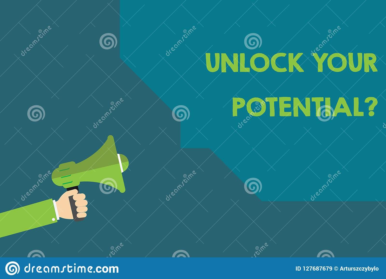 Handwriting Text Unlock Your Potential Question. Concept Meaning Maximize  Your Ability Use God Given Gift Stock Illustration - Illustration of  magnifying, achieve: 127687679