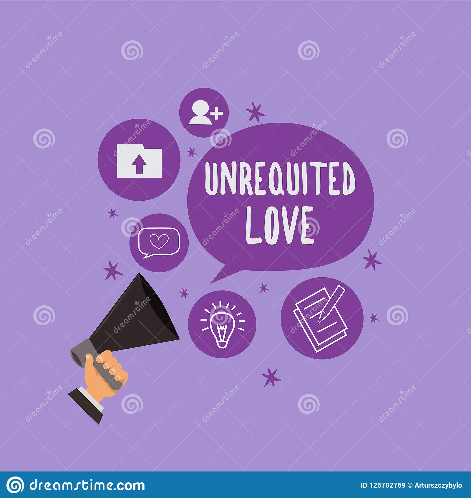 handwriting text unrequited love concept meaning not