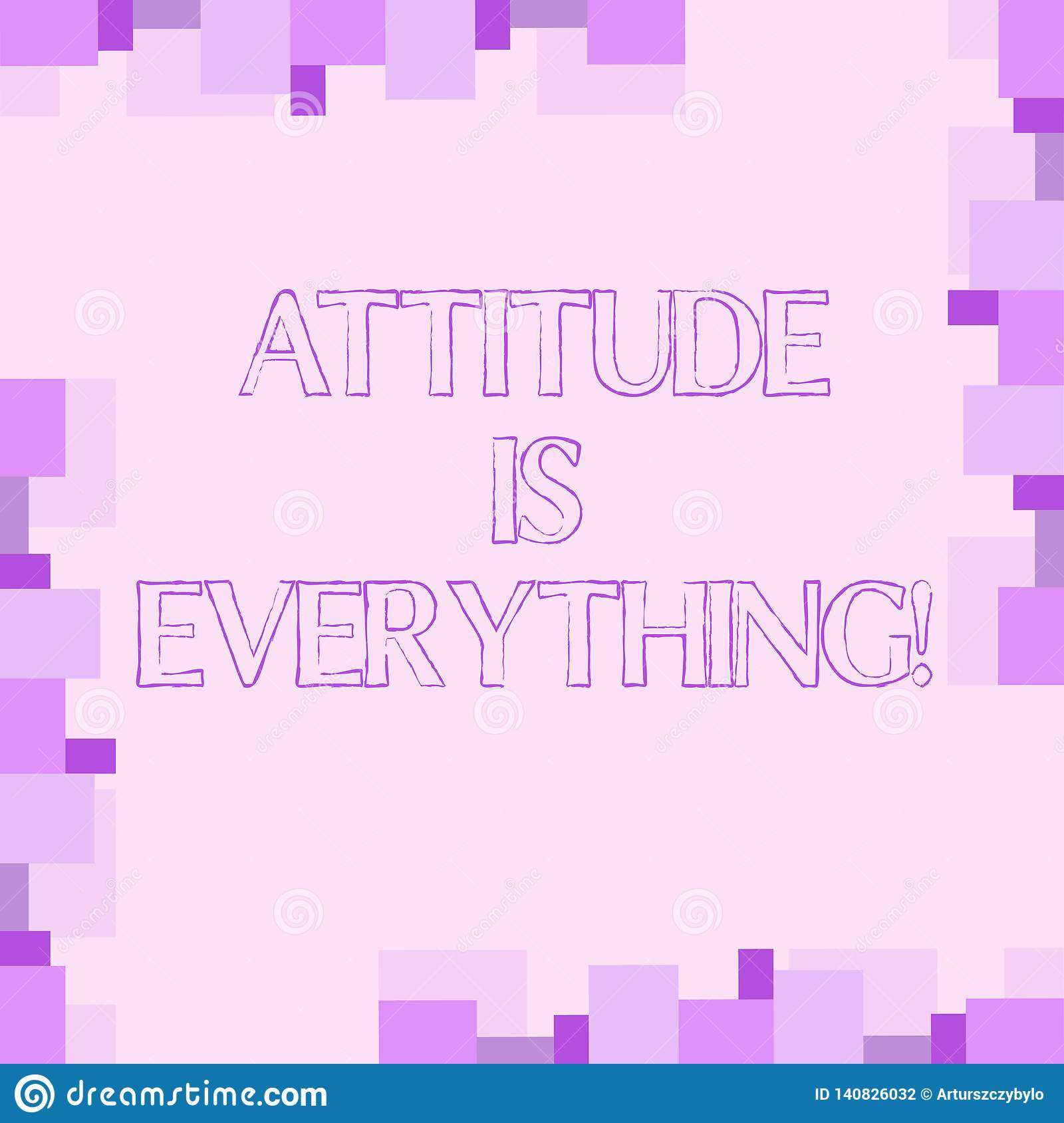 Handwriting text writing Attitude Is Everything. Concept meaning Motivation Inspiration Optimism important to succeed.