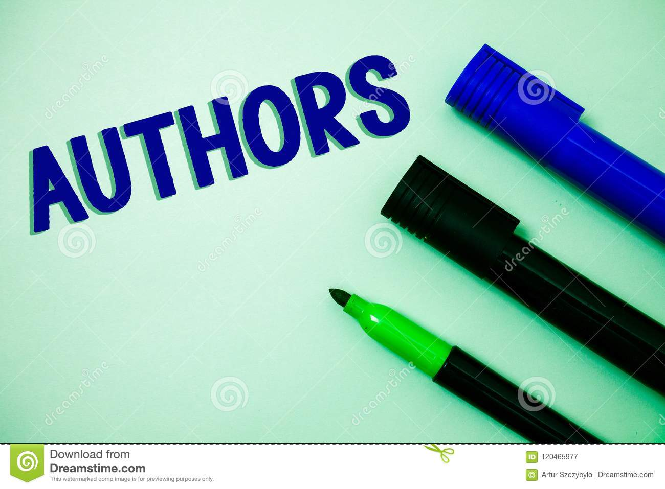 Handwriting text writing Authors. Concept meaning Writer Journalist Poet Biographer Playwright Composer Creator Ideas messages fee