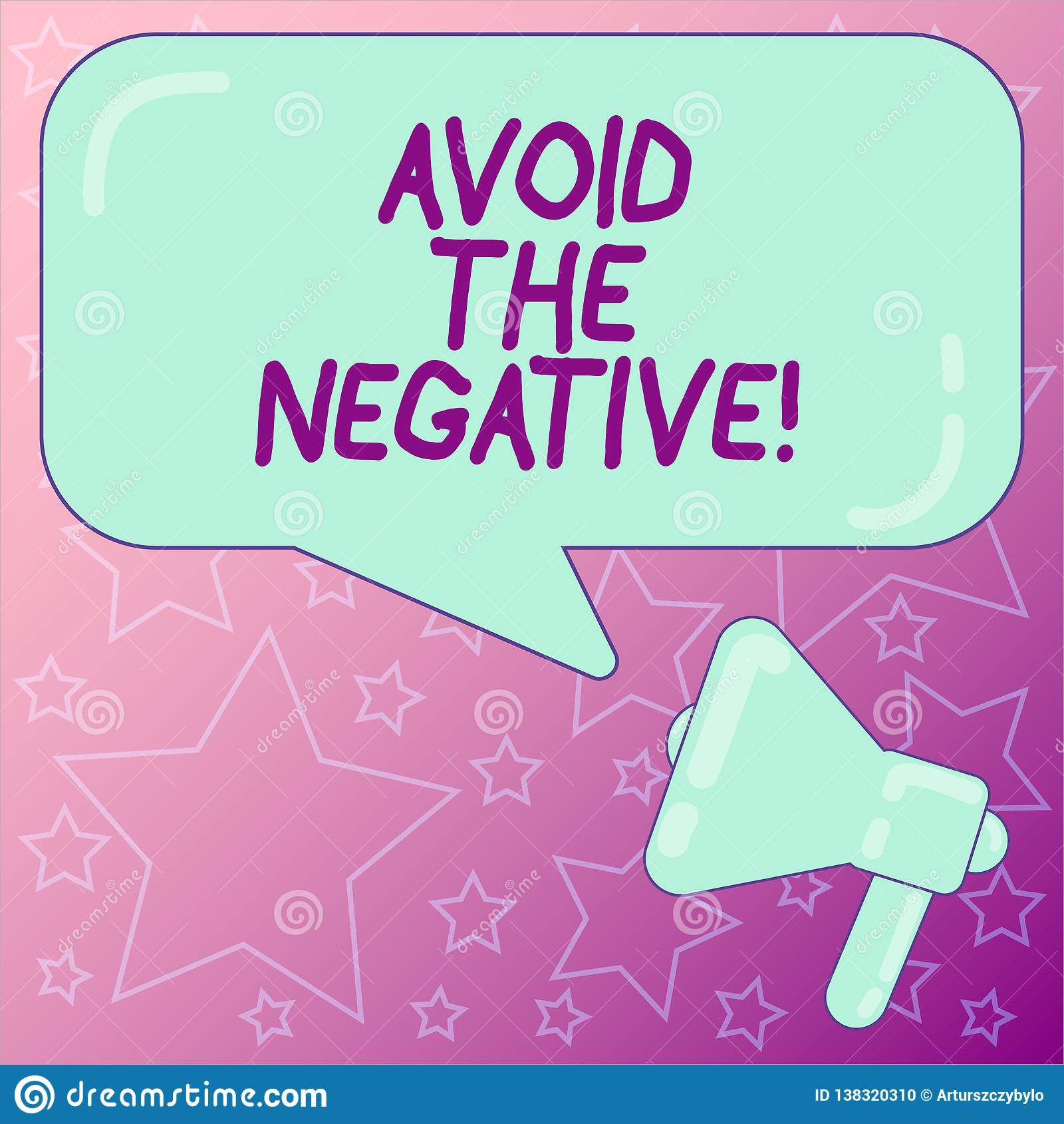 Handwriting Text Writing Avoid The Negative  Concept Meaning