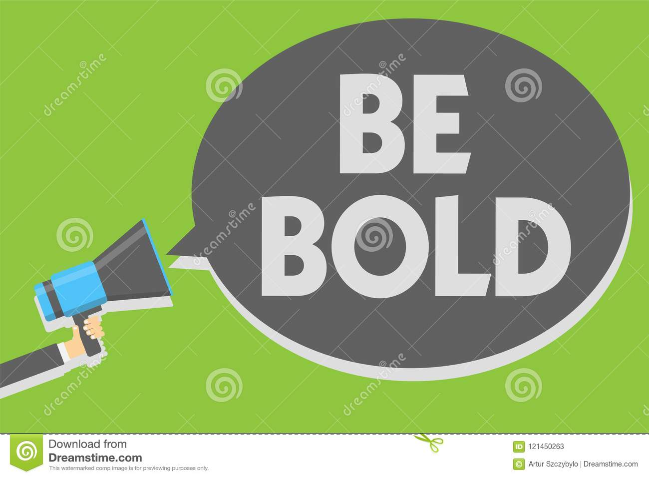 Handwriting Text Writing Be Bold  Concept Meaning Go For It