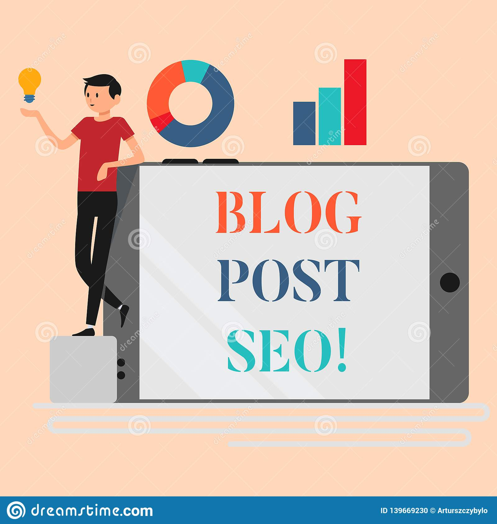 Handwriting Text Writing Blog Post Seo. Concept Meaning Search ...