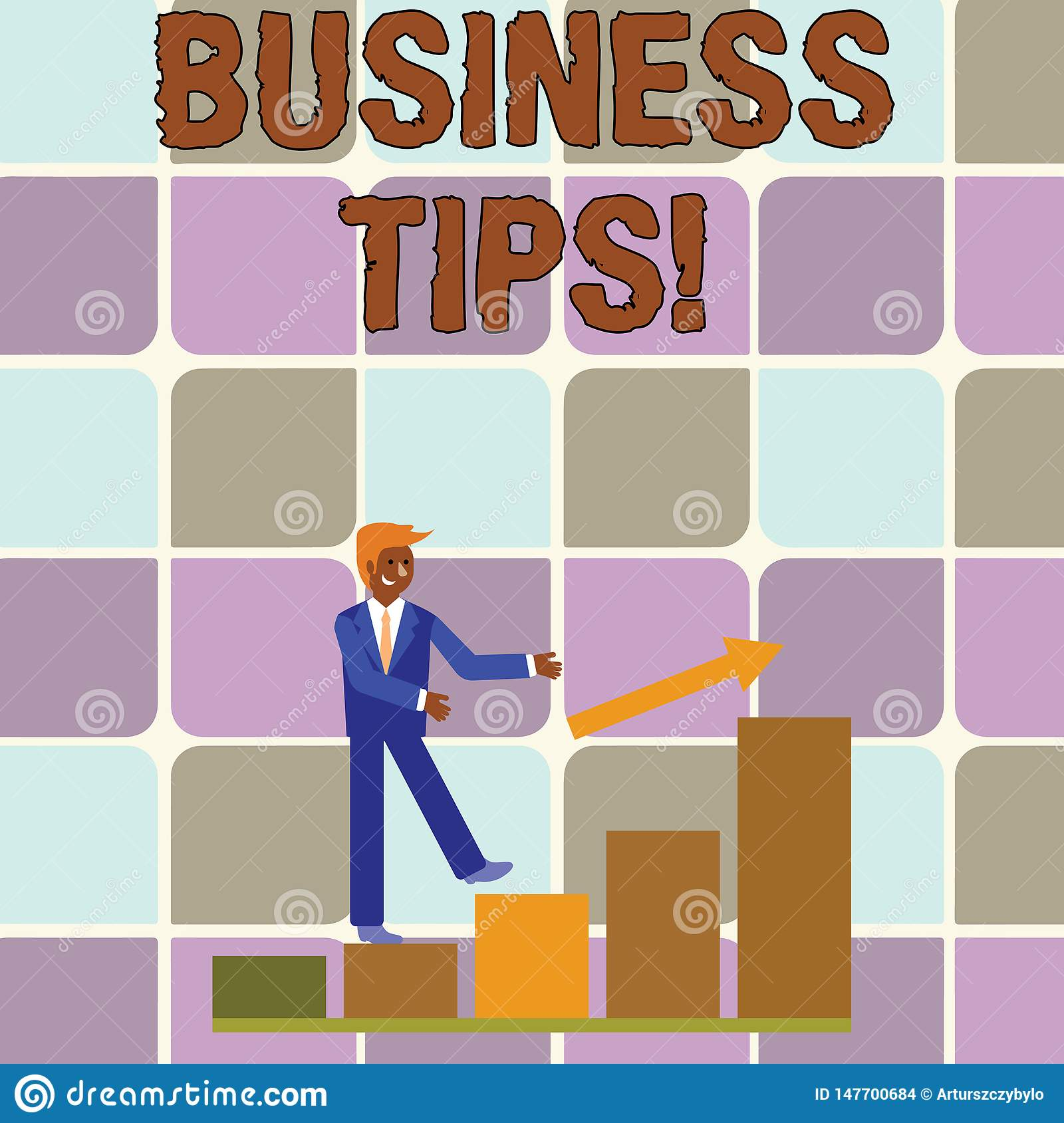 Handwriting Text Writing Business Tips  Concept Meaning