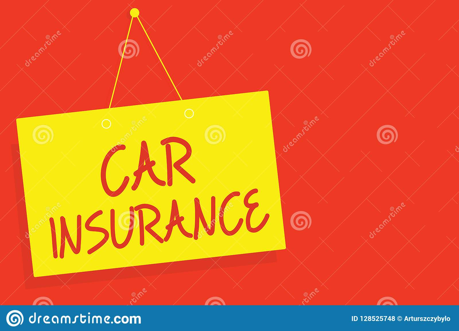 Handwriting Text Writing Car Insurance Concept Meaning Accidents