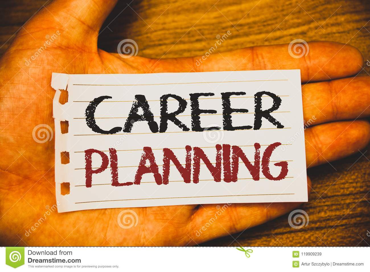 Handwriting text writing Career Planning. Concept meaning Professional Development Educational Strategy Job Growth Text two Words