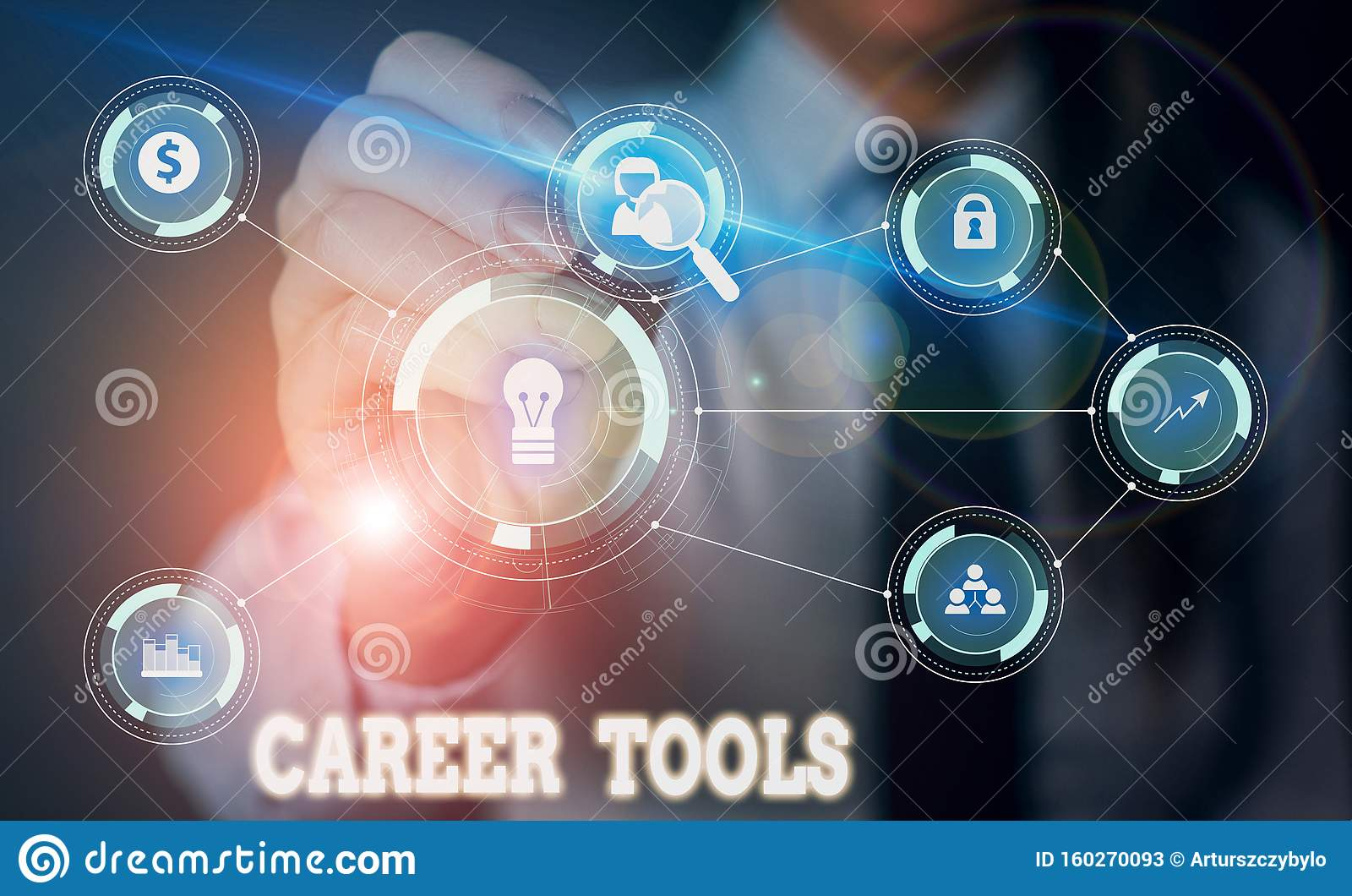 Handwriting Text Writing Career Tools Concept Meaning The System Designed To Assist And Enhance Your Career Woman Wear Stock Image Image Of Global Communication 160270093