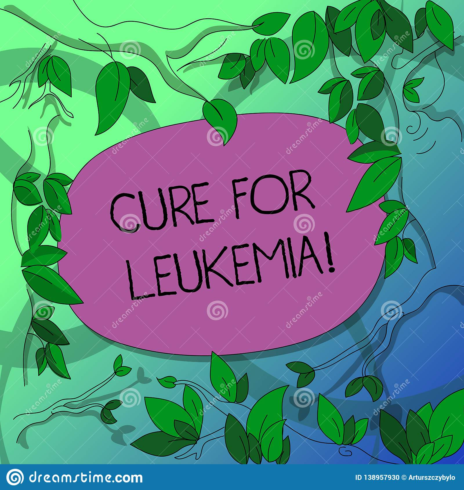 Handwriting Text Writing Cure For Leukemia  Concept Meaning