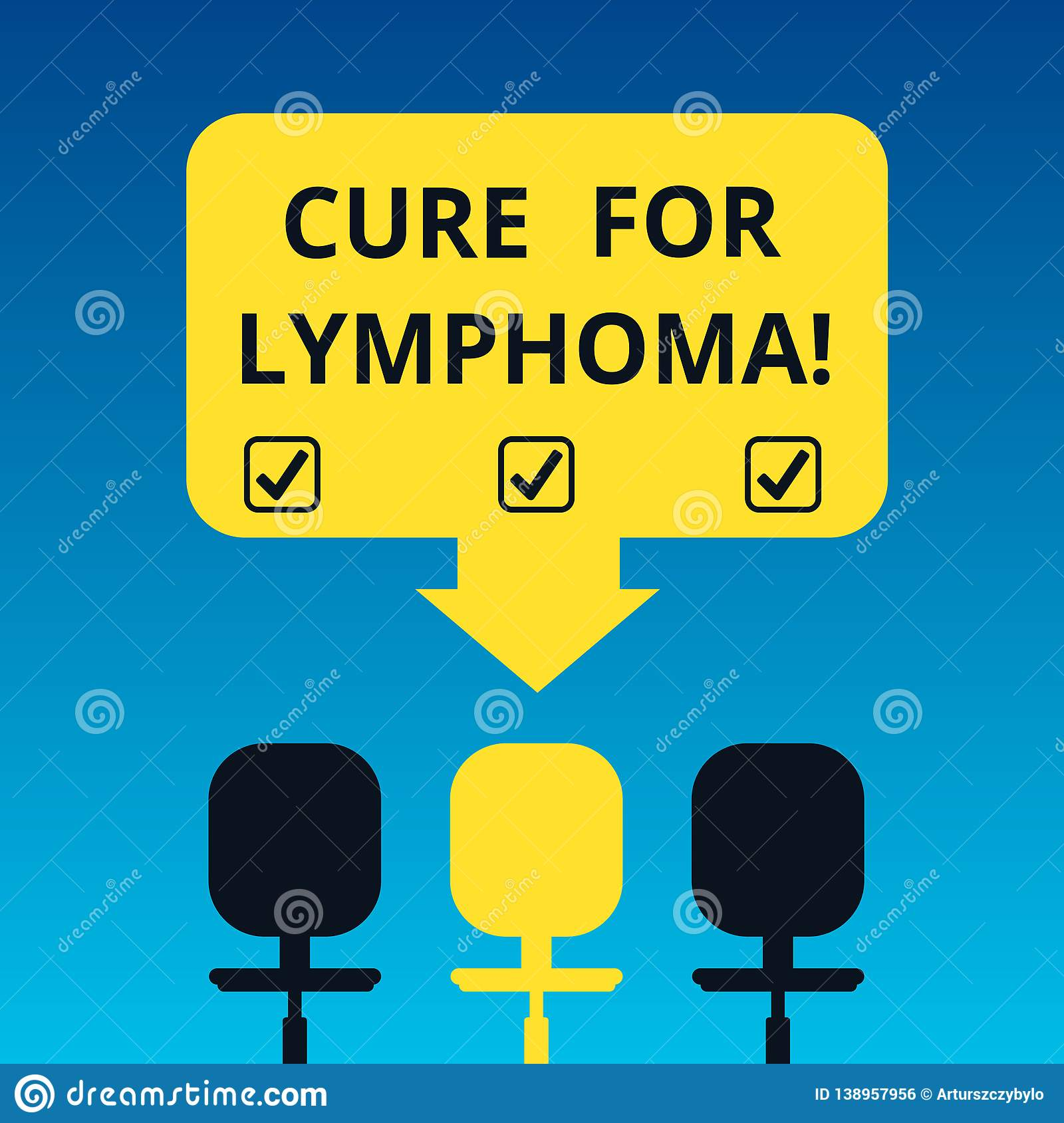 Handwriting Text Writing Cure For Lymphoma  Concept Meaning