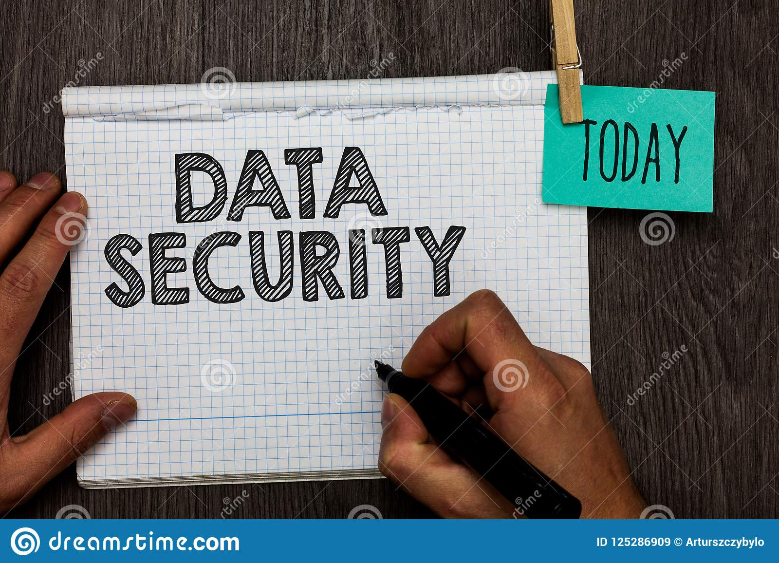 Handwriting Text Writing Data Security  Concept Meaning