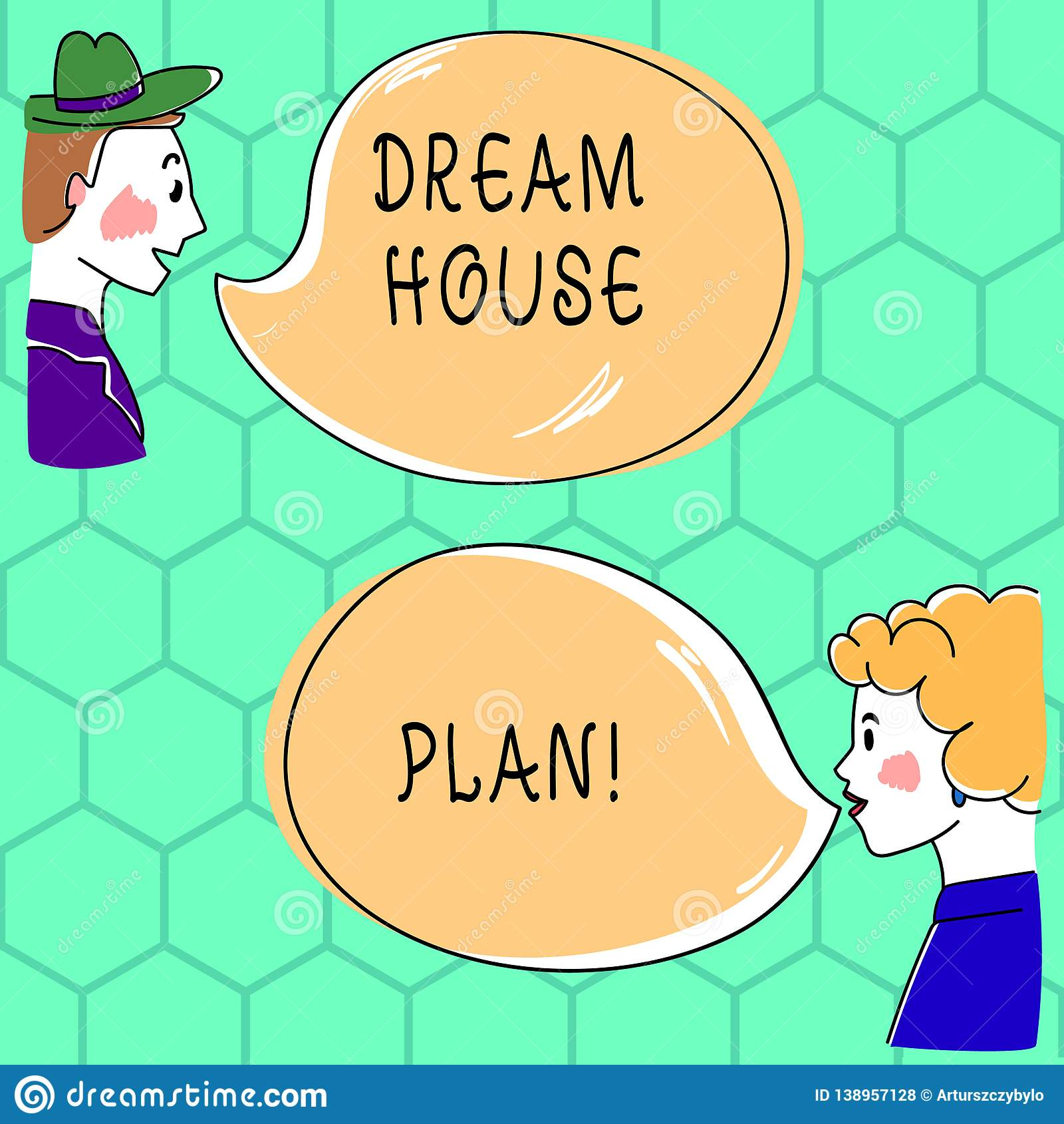 Handwriting text writing Dream House Plan. Concept meaning construction working drawings that define all specification