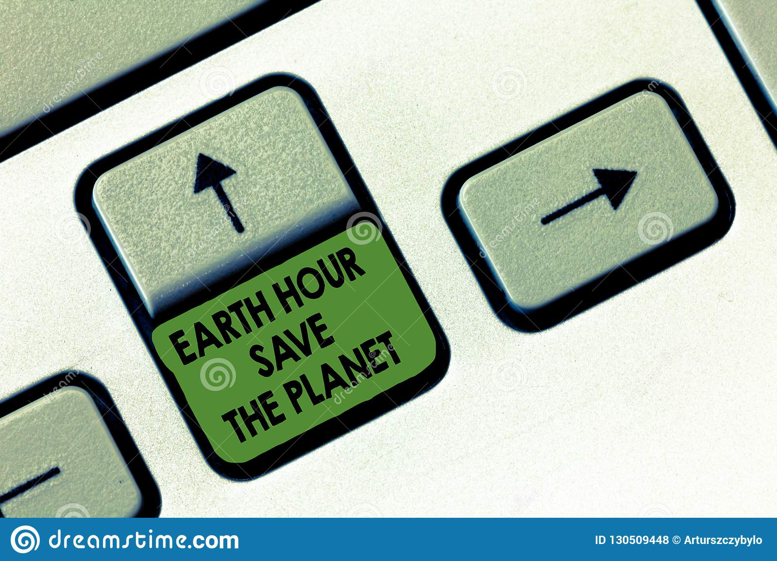 Handwriting text writing Earth Hour Save The Planet. Concept meaning The Lights Off EventMovement by WWF every March