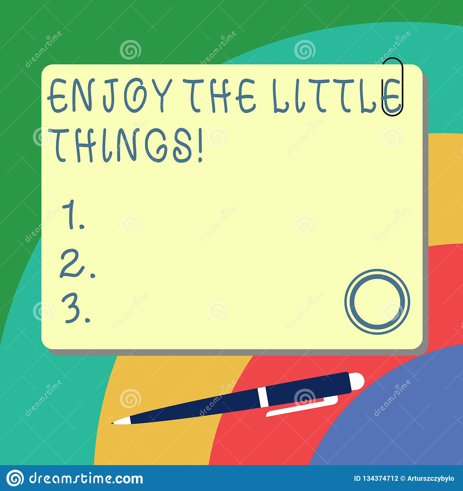 Handwriting Text Writing Enjoy The Little Things Concept Meaning