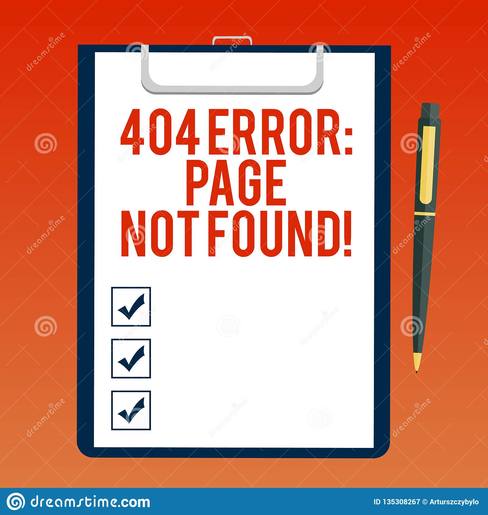 Handwriting Text Writing 404 Error Page Not Found  Concept