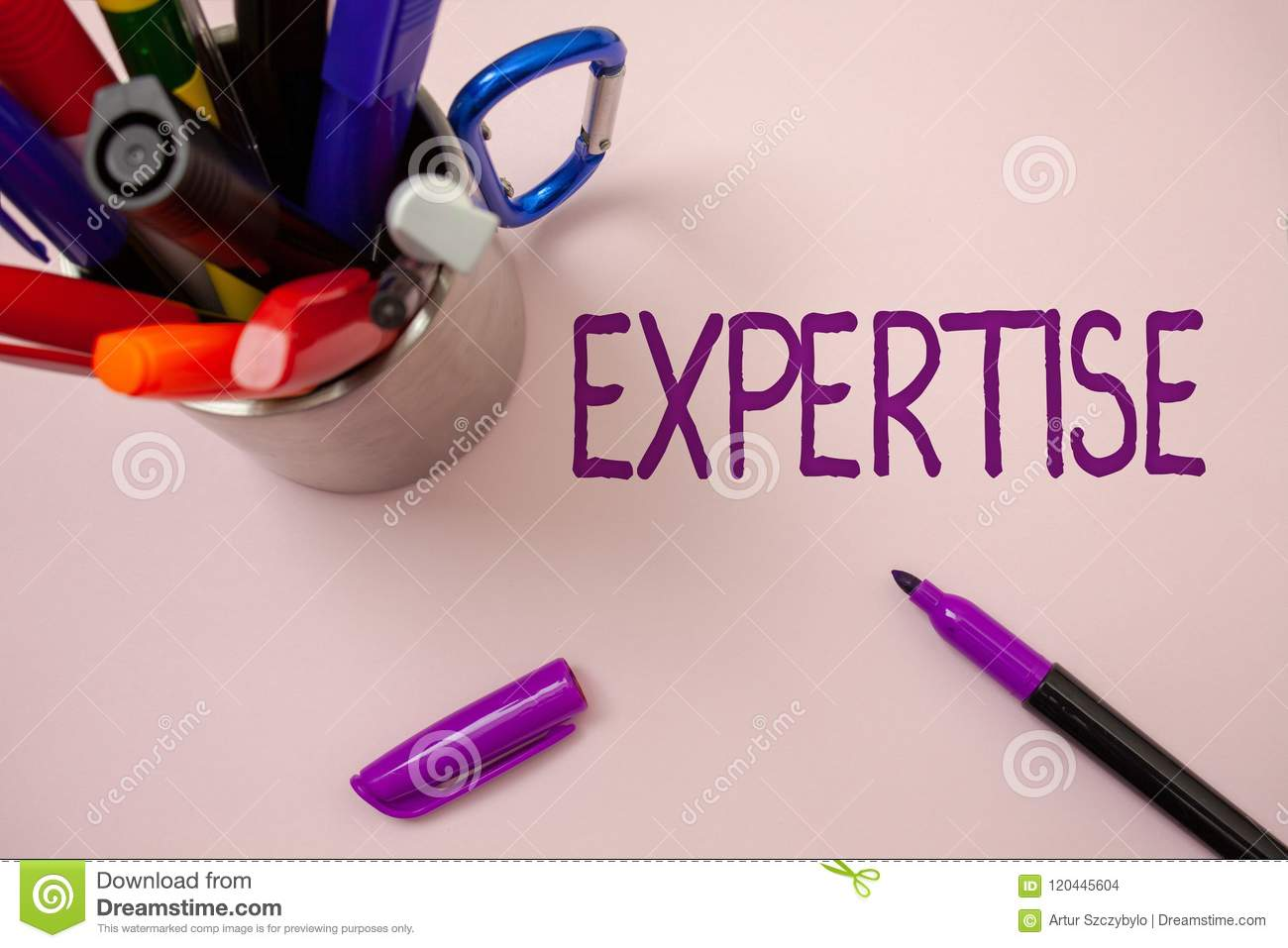 Handwriting text writing Expertise. Concept meaning Expert skill or knowledge in a particular field Experience Wisdom White backgr