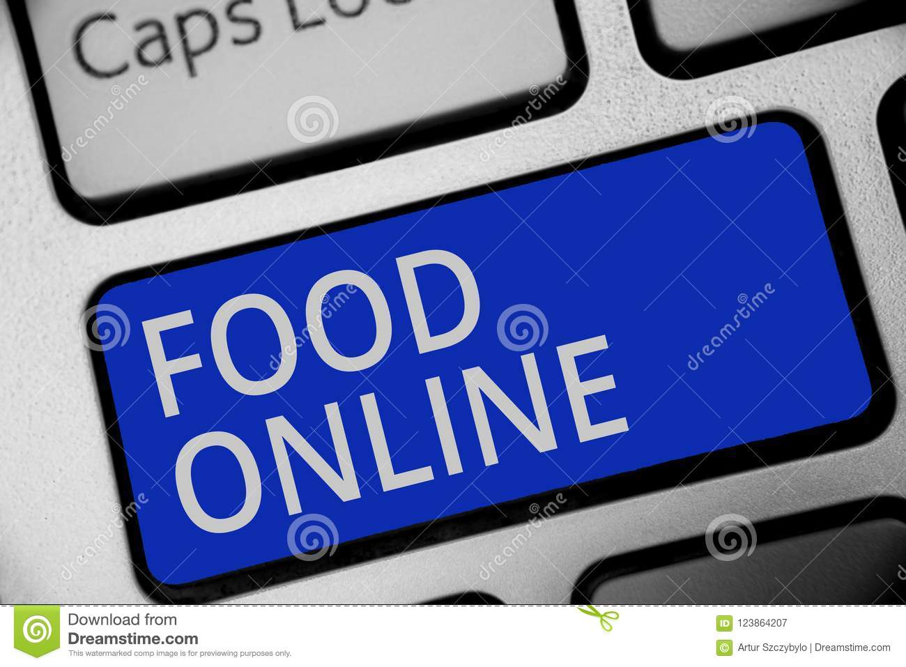 Handwriting Text Writing Food Online Concept Meaning Asking For