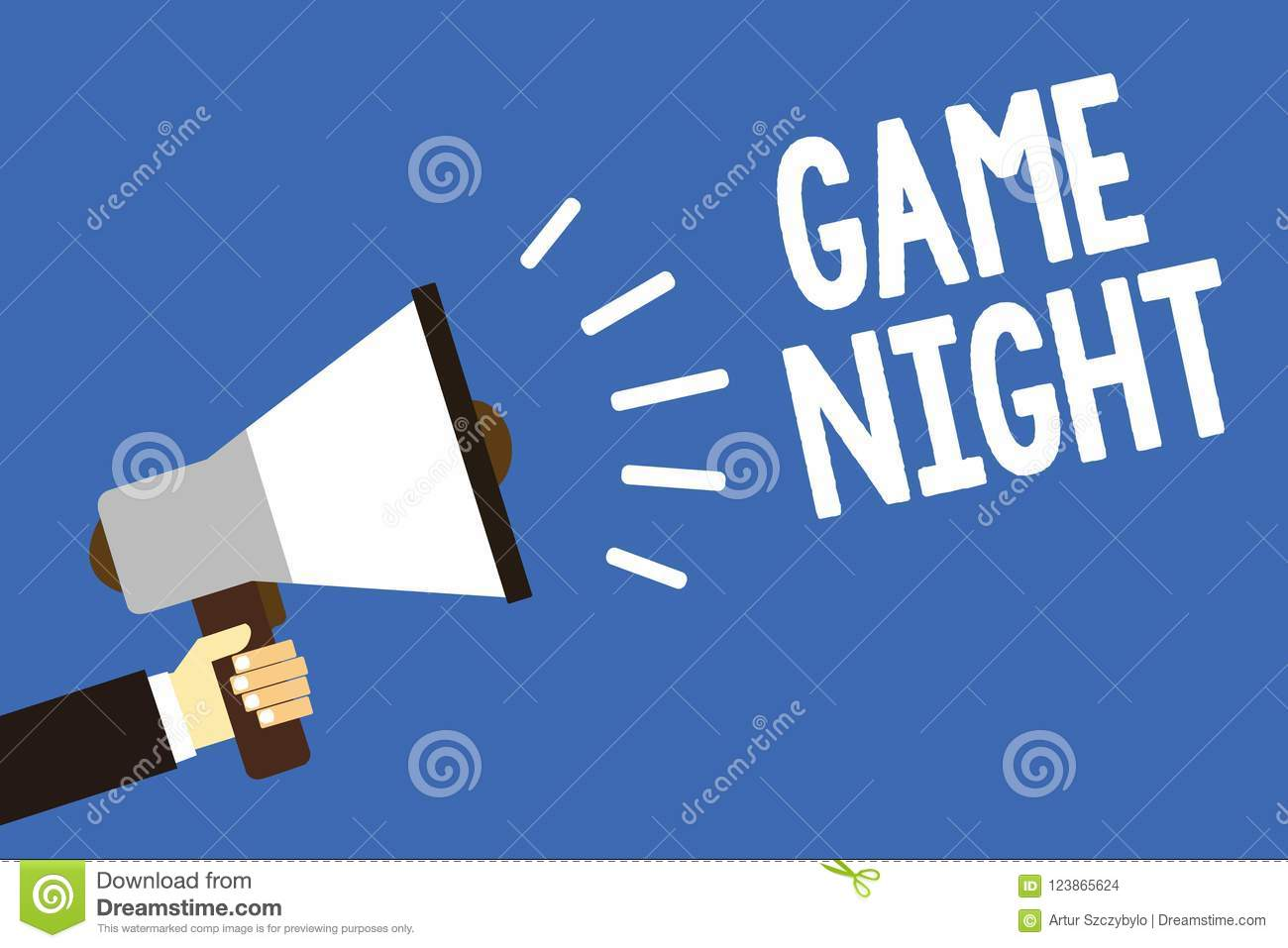 Handwriting Text Writing Game Night  Concept Meaning Event