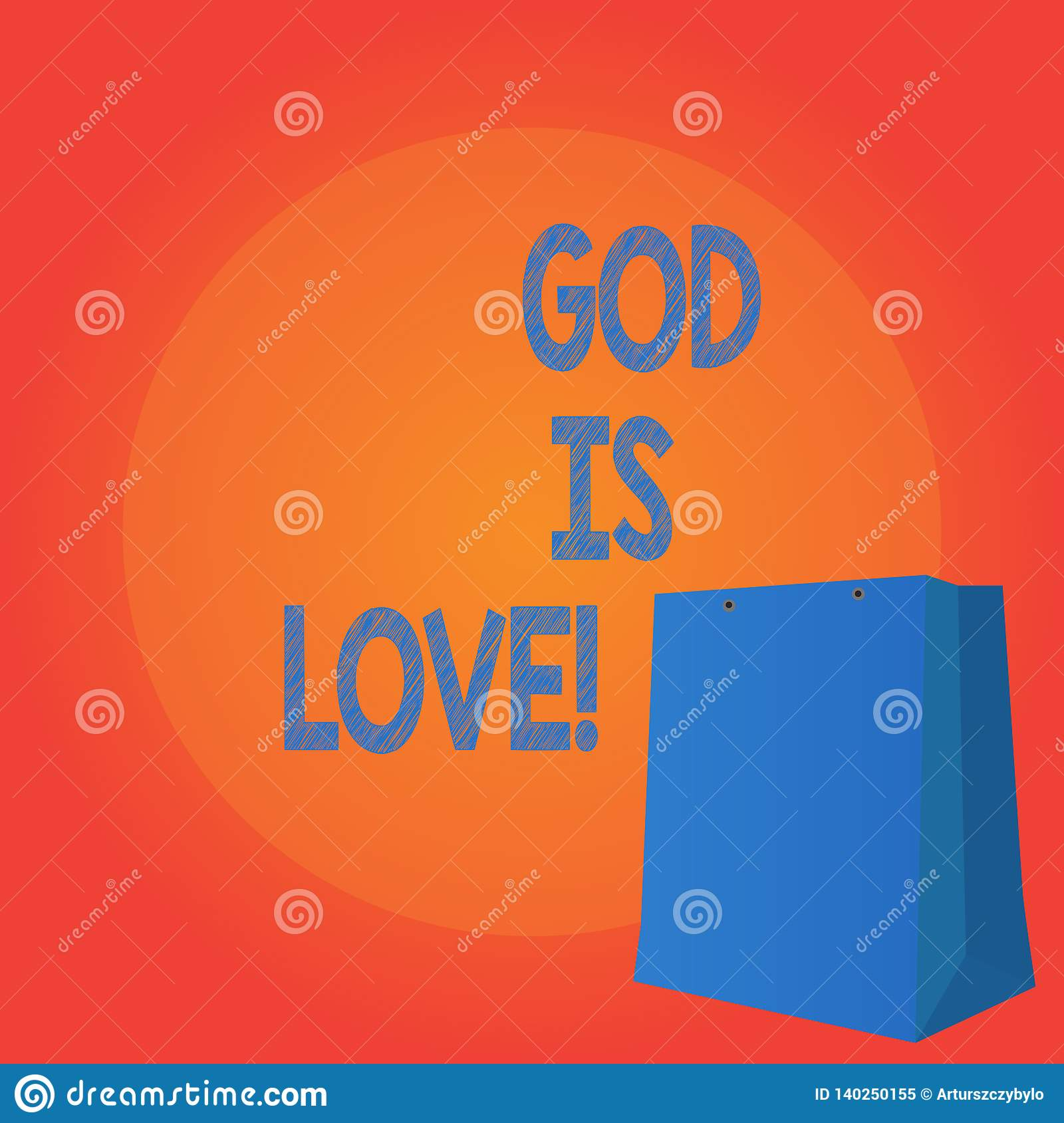 Handwriting Text Writing God Is Love  Concept Meaning Believing In
