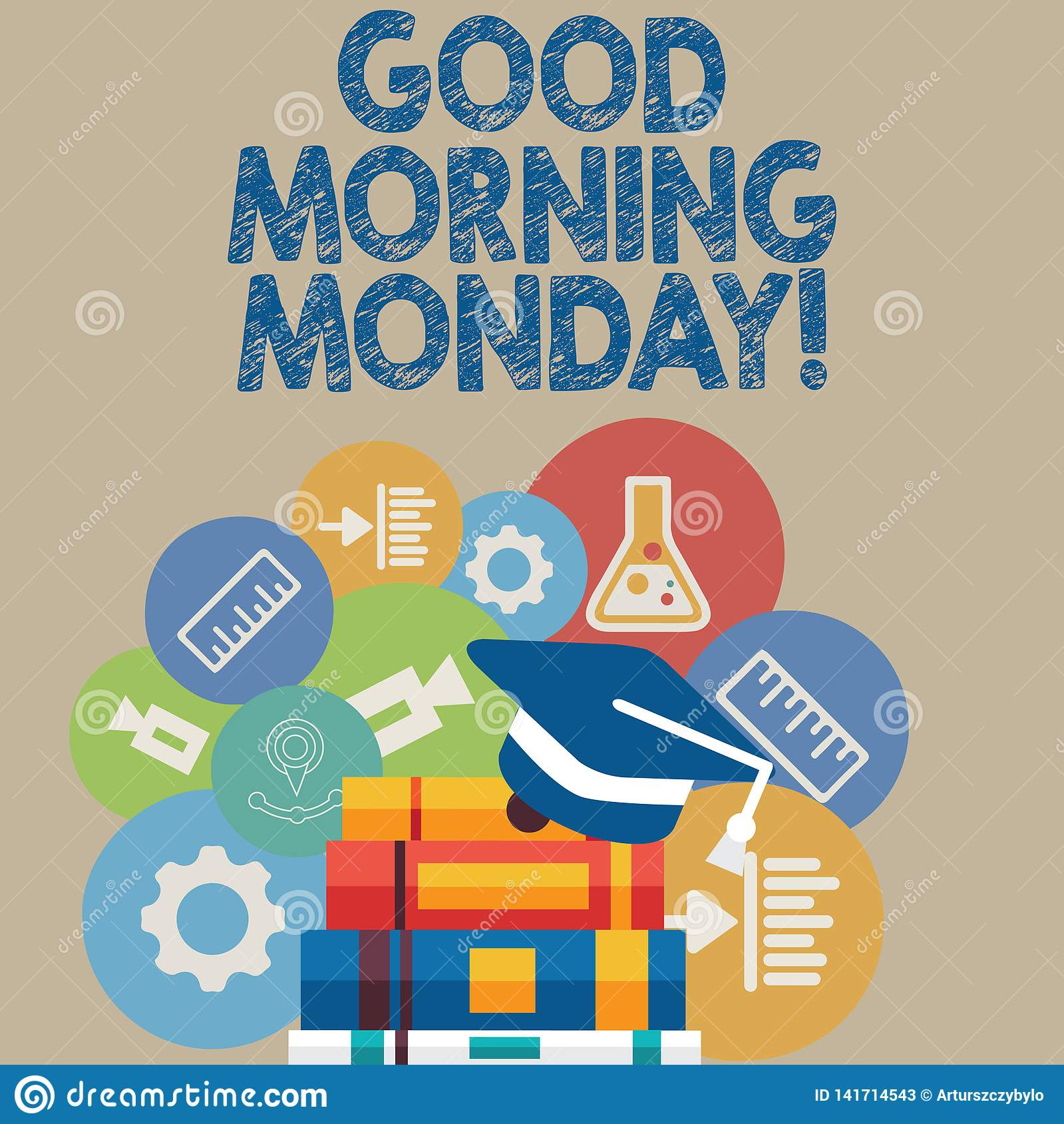 Handwriting text writing Good Morning Monday. Concept meaning Happy Positivity Energetic Breakfast.
