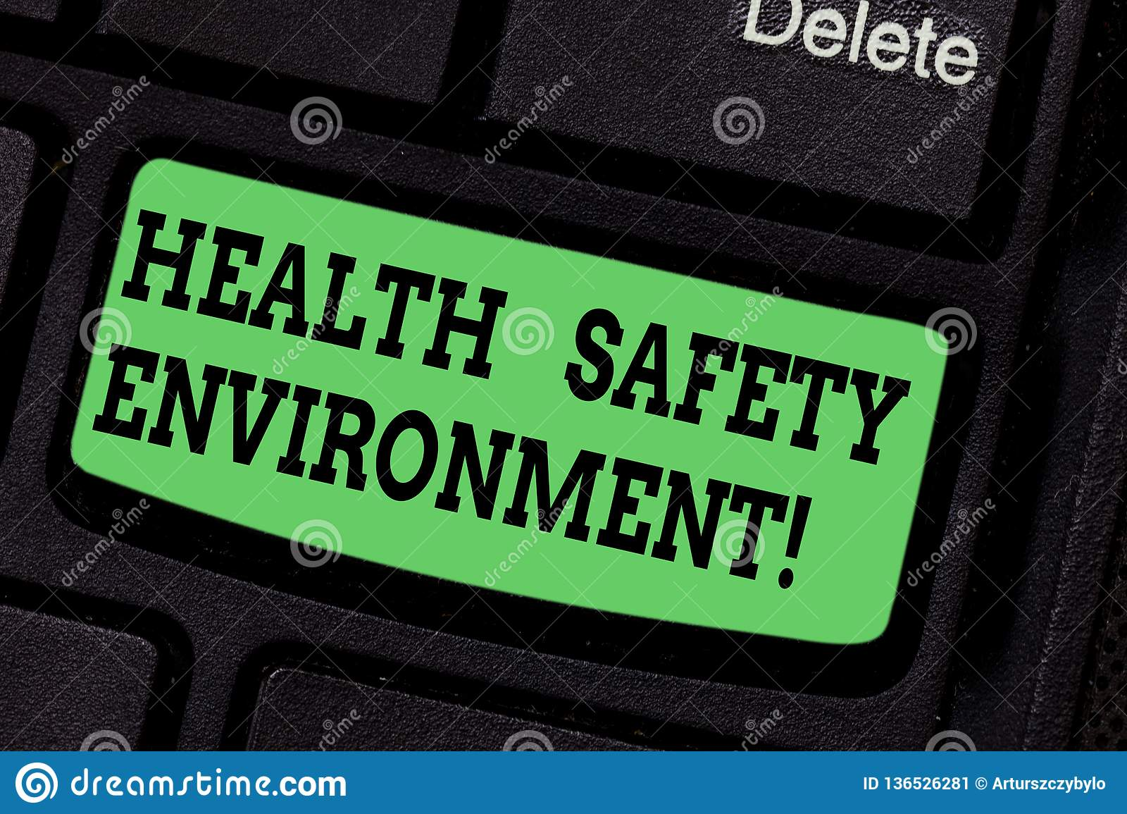 Handwriting Text Writing Health Safety Environment  Concept Meaning