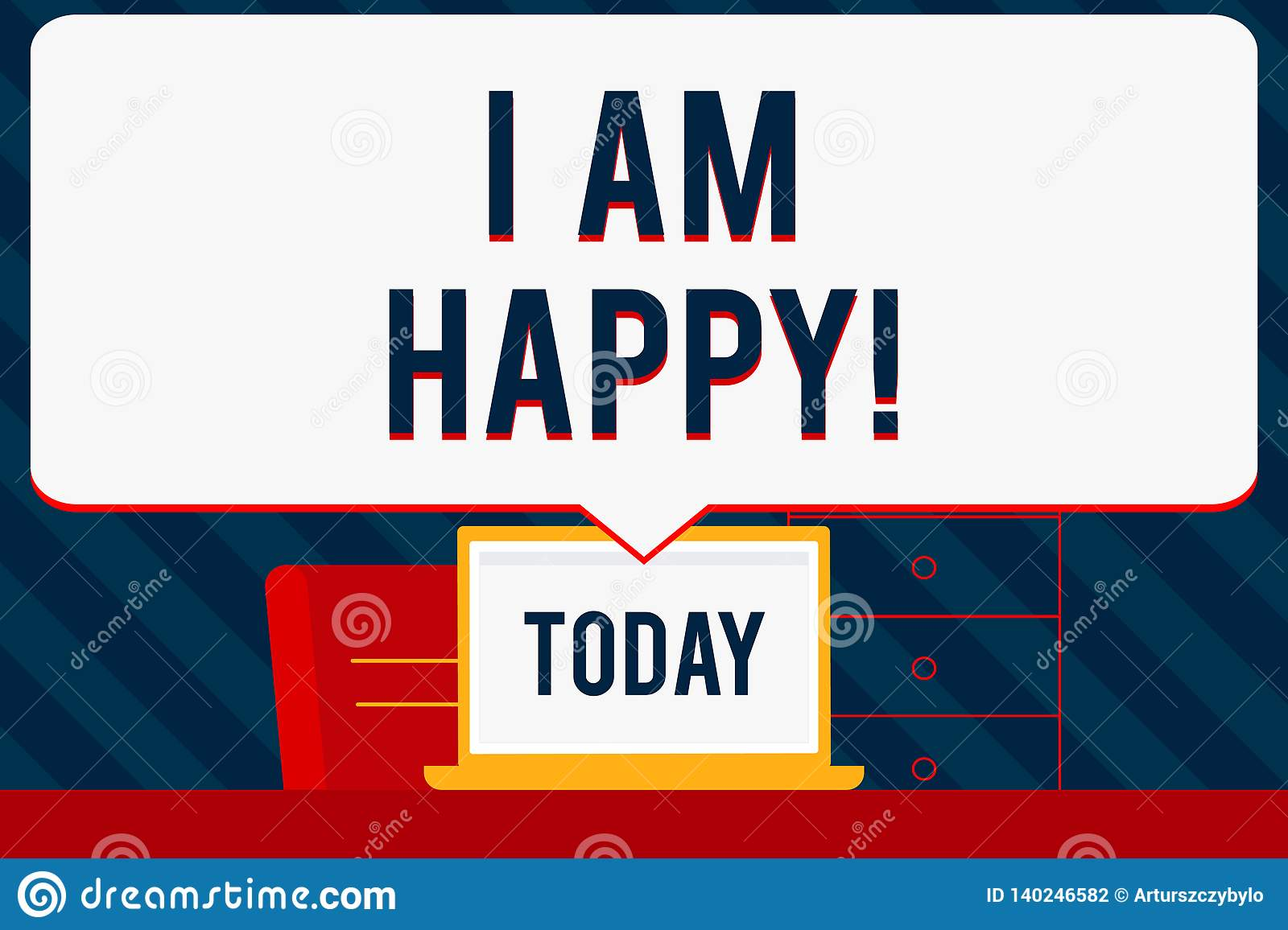 Handwriting Text Writing I Am Happy  Concept Meaning To Have A