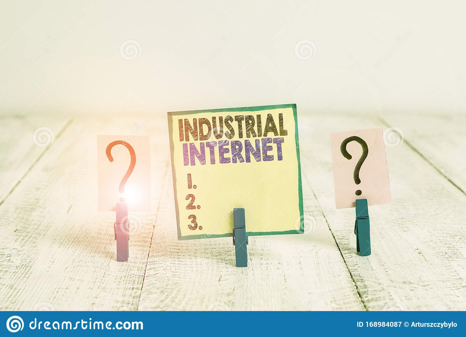Handwriting Text Writing Industrial Internet. Concept ...