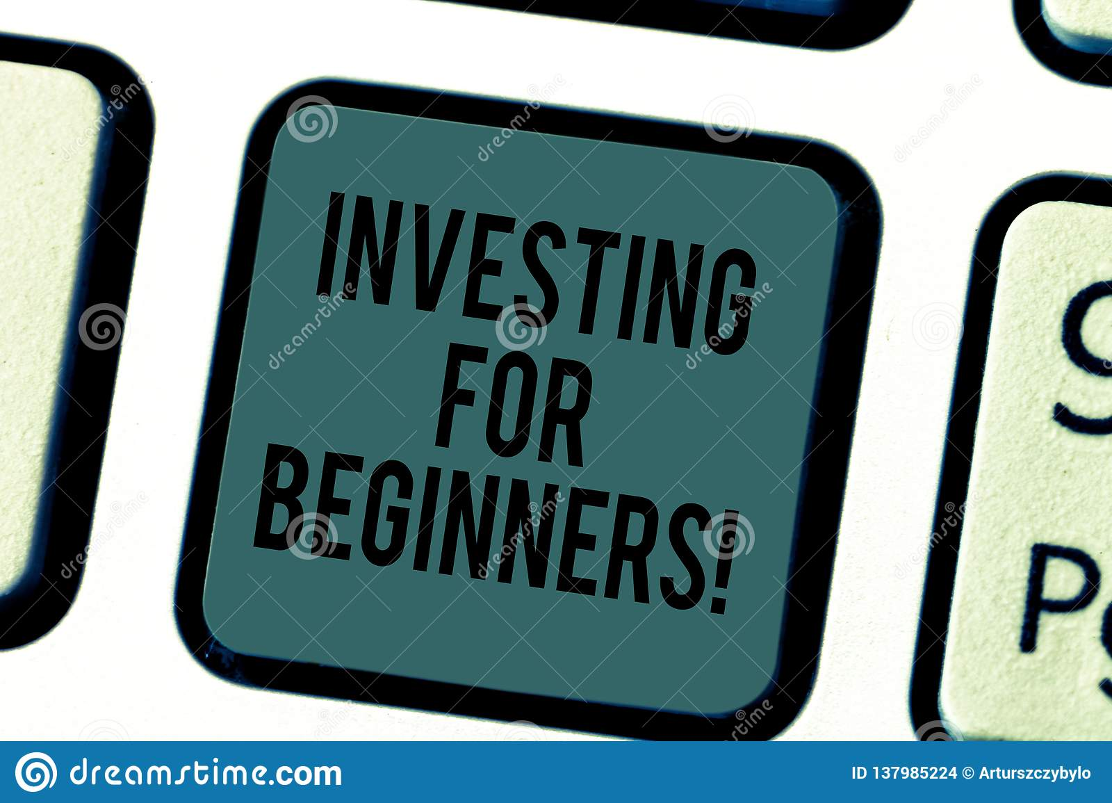Handwriting text writing Investing For Beginners. Concept meaning outlay of money usually for income or profit Keyboard