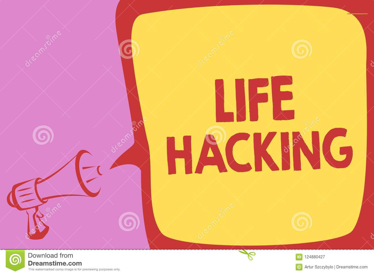 Handwriting Text Writing Life Hacking  Concept Meaning