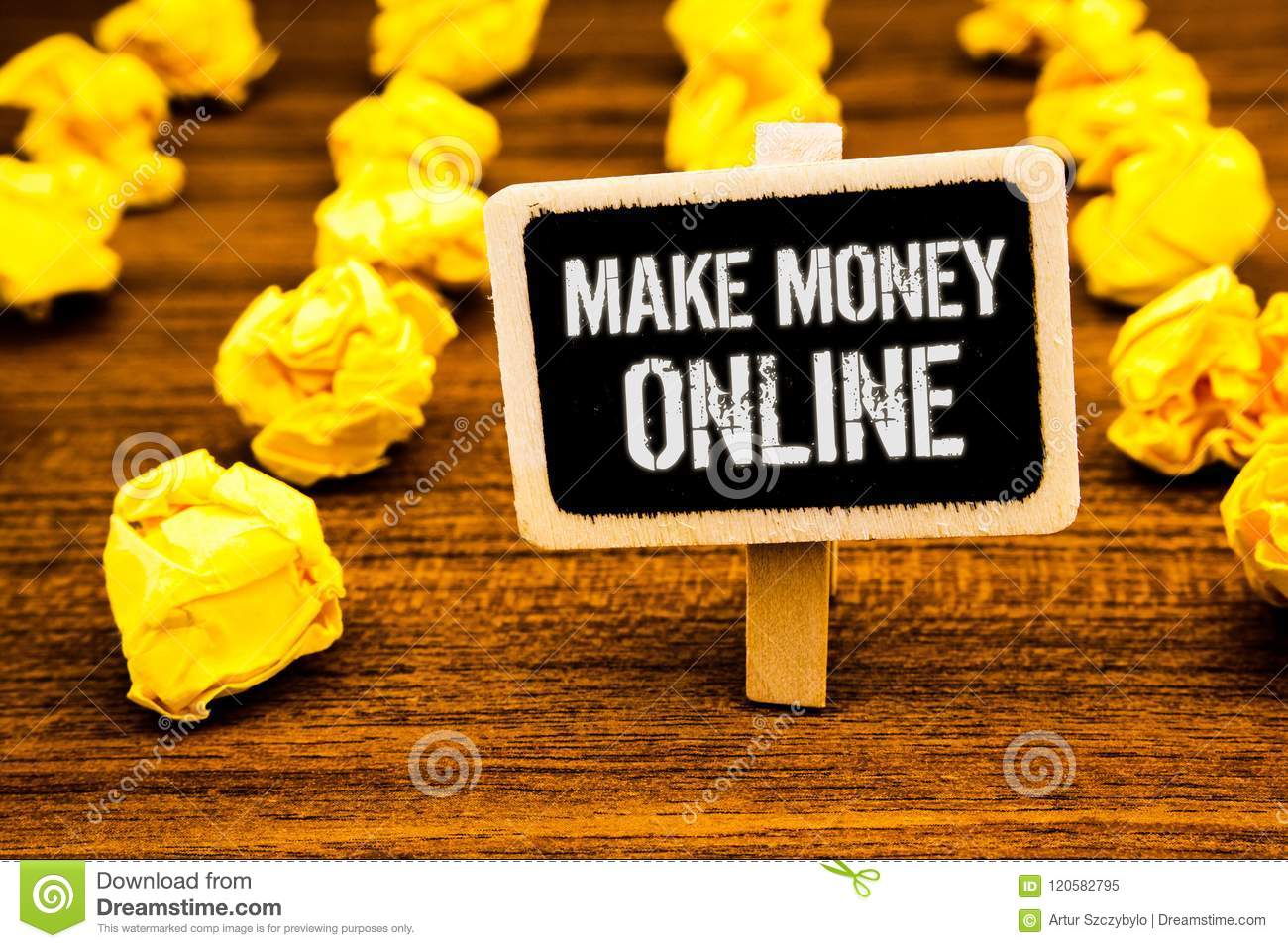 Handwriting Text Writing Make Money Online  Concept Meaning Business