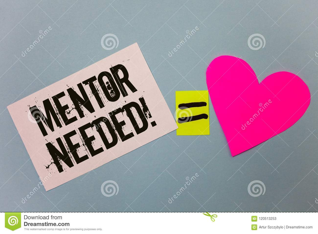Handwriting Text Writing Mentor Needed Motivational Call Concept