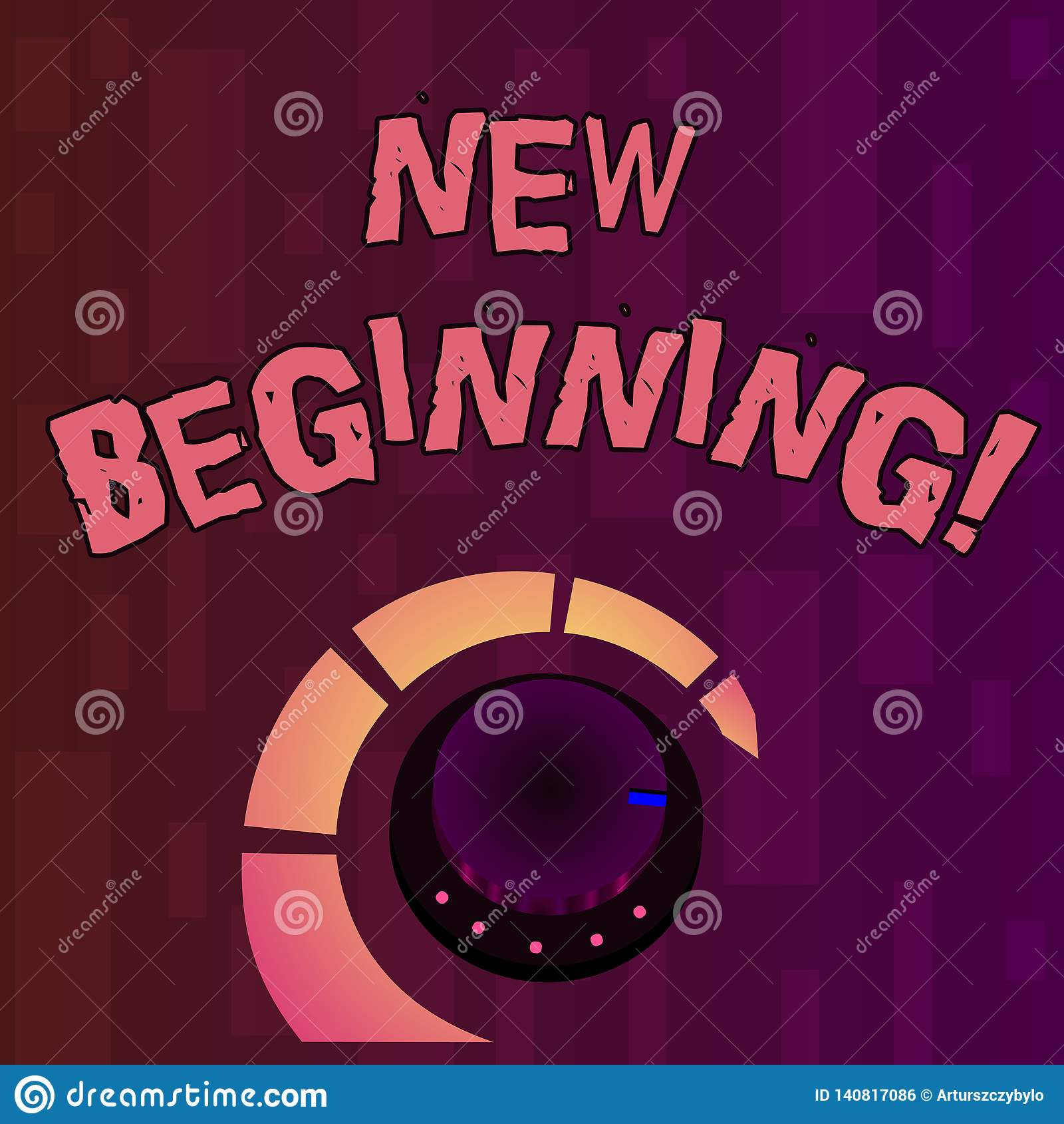 Handwriting text writing New Beginning. Concept meaning Fresh Start Changing Form Growth Life New Way to Work.