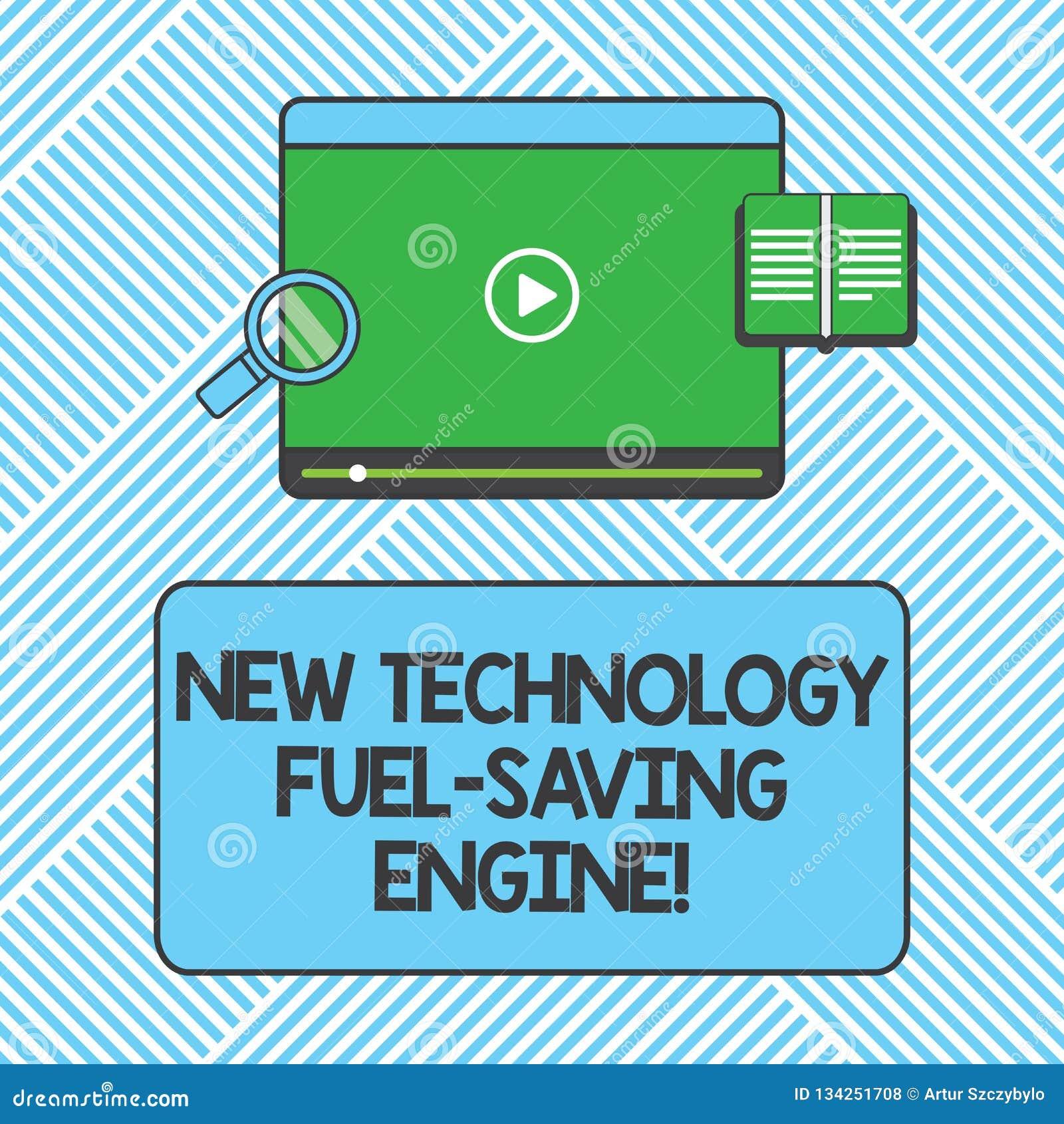 Handwriting Text Writing New Technology Fuel Saving Engine