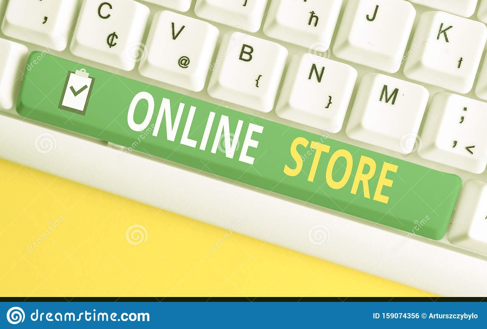 Handwriting Text Writing Online Store Concept Meaning A Website That Offers Items For Sale And Accept Credit Cards Stock Photo Image Of Credit Computer 159074356