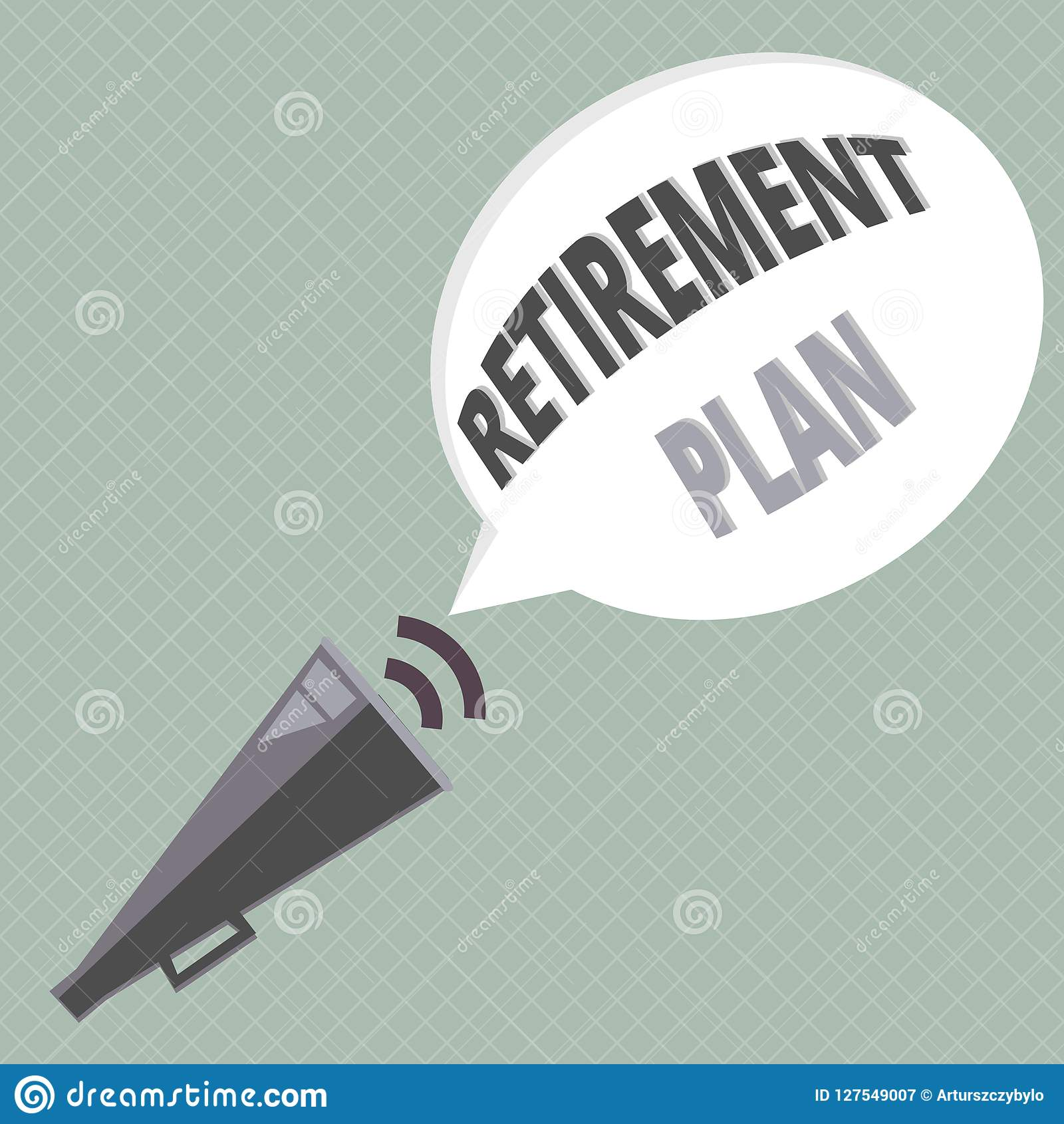 Handwriting Text Writing Retirement Plan  Concept Meaning Saving