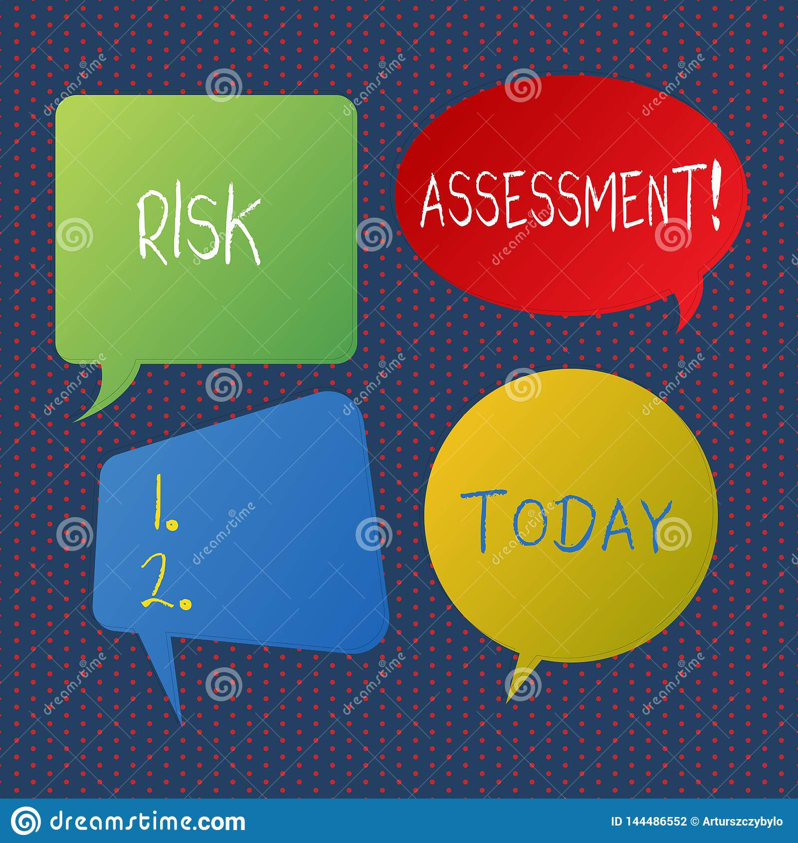 Handwriting Text Writing Risk Assessment. Concept Meaning ...