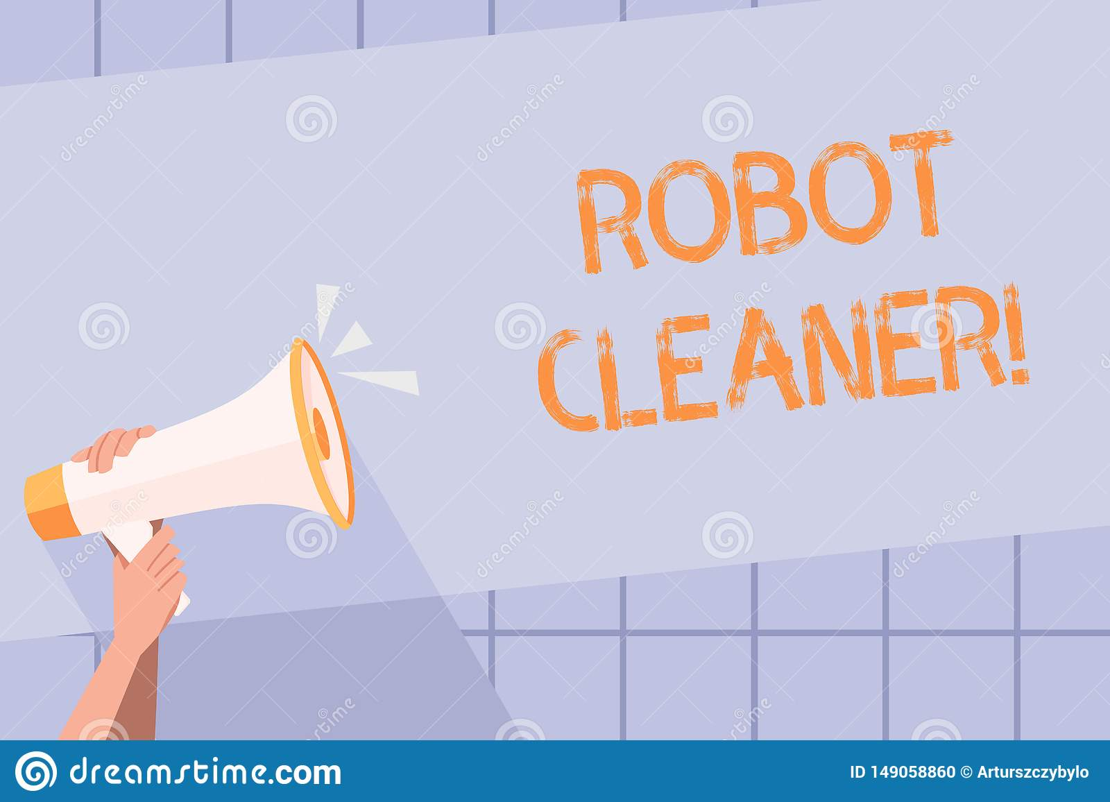 Handwriting Text Writing Robot Cleaner Concept Meaning