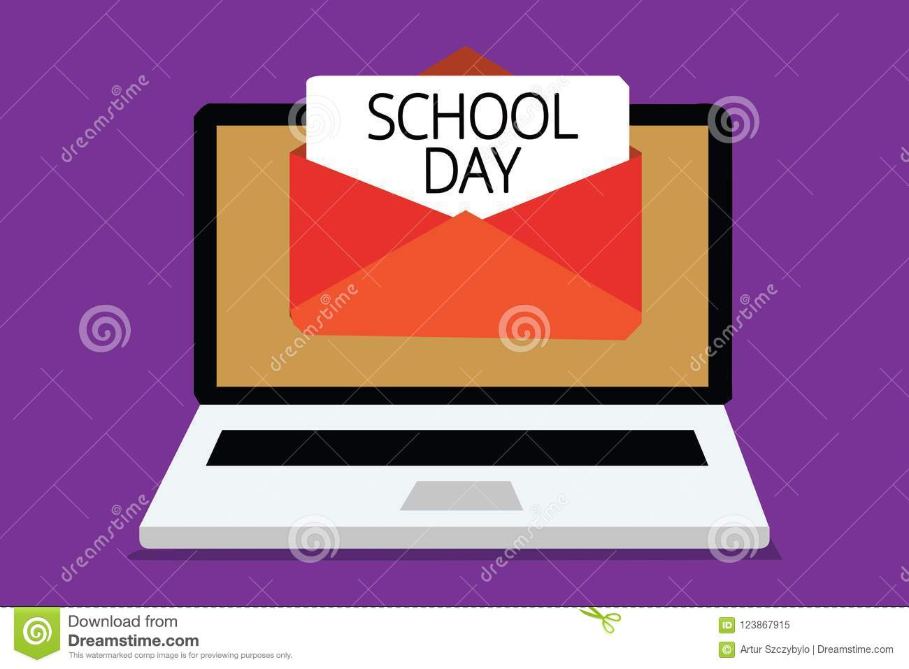 Handwriting Text Writing School Day  Concept Meaning Starts