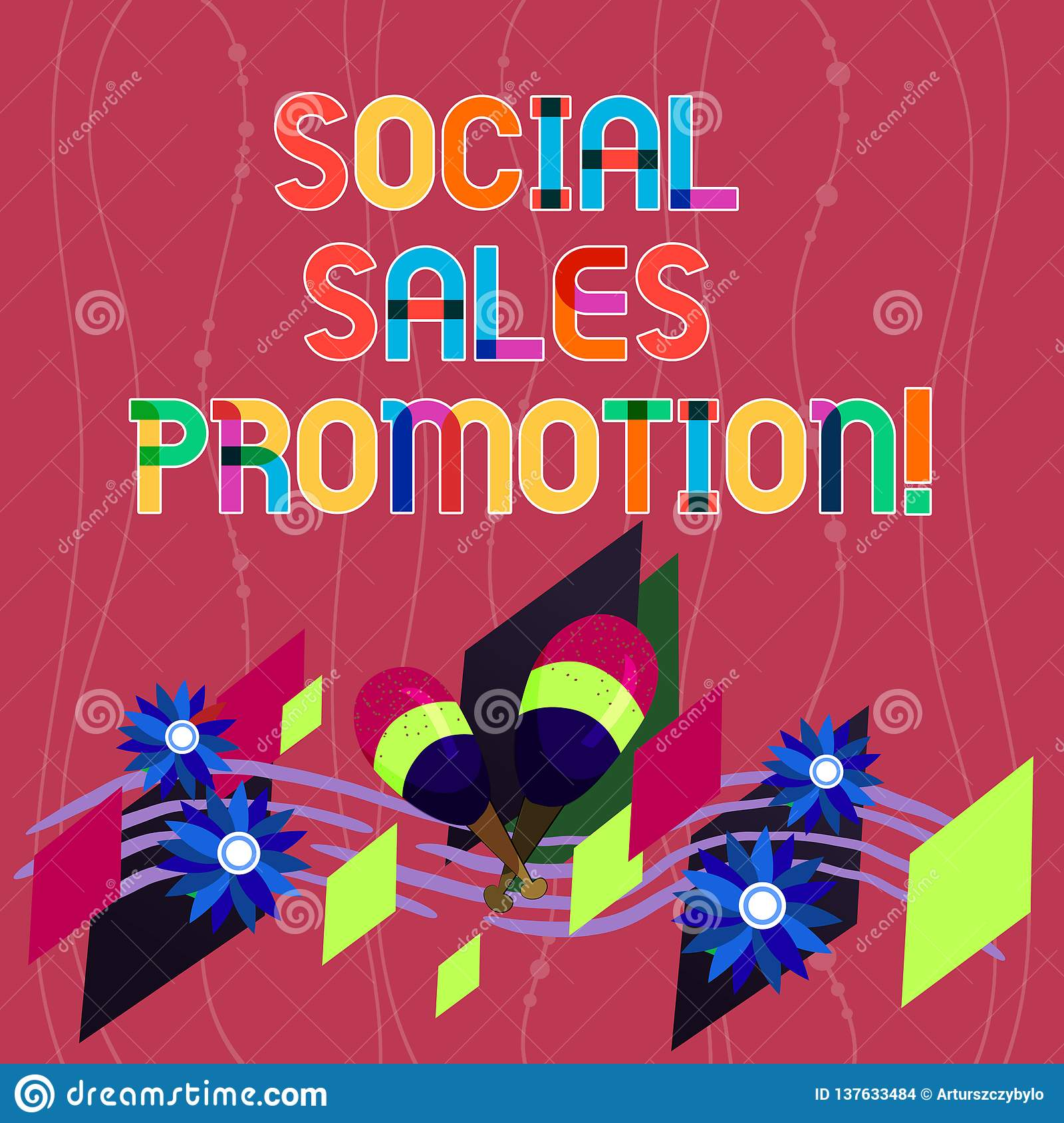 handwriting text writing social sales promotion  concept