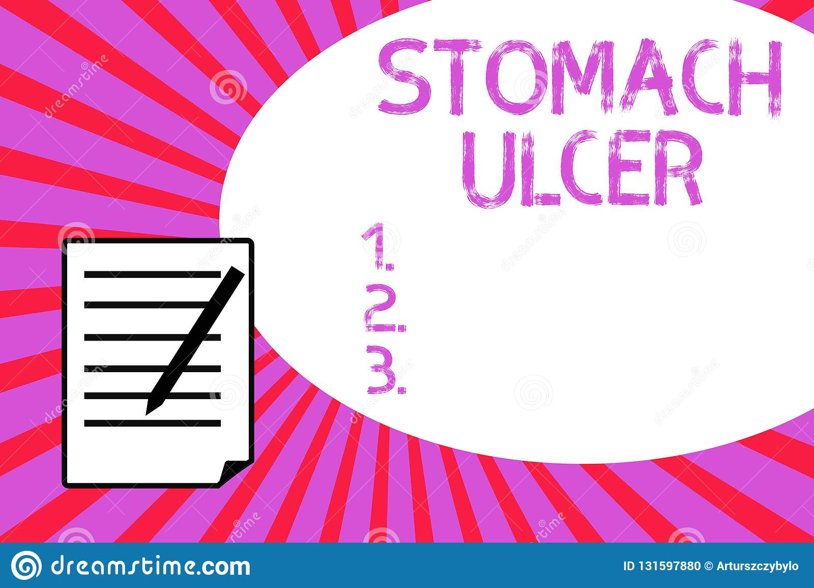 Handwriting Text Writing Stomach Ulcer  Concept Meaning Open Sores