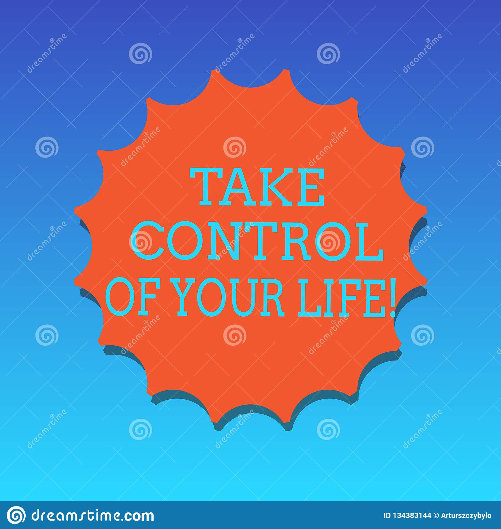 Handwriting Text Writing Take Control Of Your Life  Concept