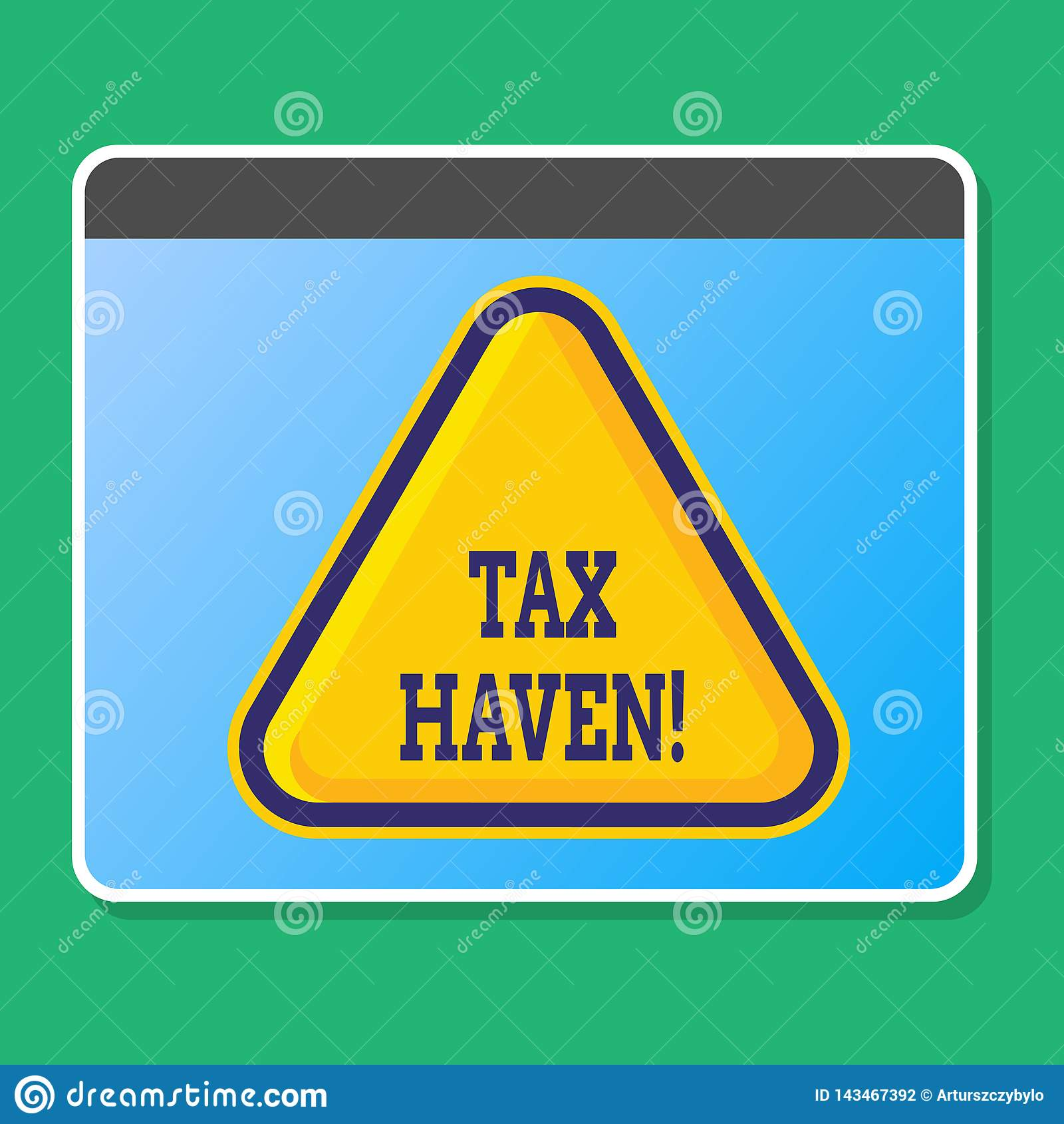 Handwriting text writing Tax Haven. Concept meaning country or independent area where taxes are levied at low rate Blank