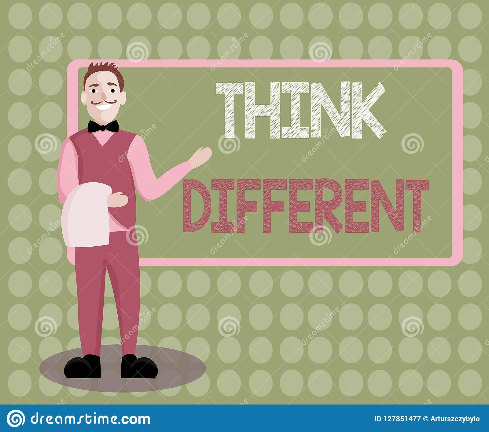 Handwriting Text Writing Think Different  Concept Meaning Be