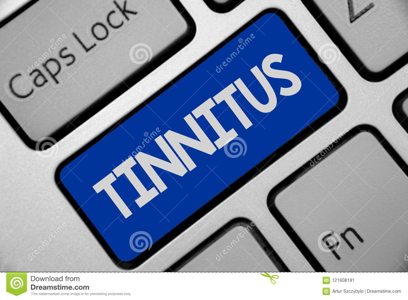 Handwriting Text Writing Tinnitus  Concept Meaning A Ringing