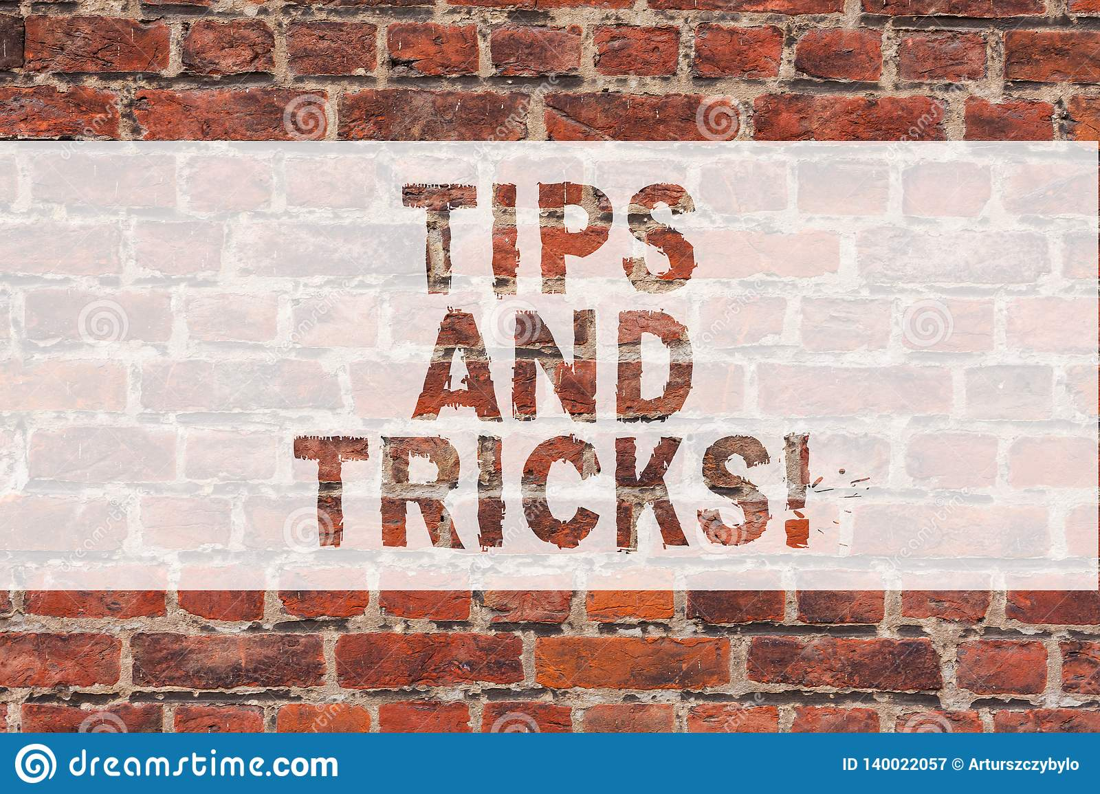 Handwriting text writing Tips And Tricks. Concept meaning Steps Life hacks Handy advice Recommendations Skills Brick